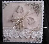 Handmade Butterfly Wedding Card