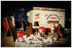 The bride Michelles ability to create a stunningly elegant atmosphere among the spectacular revelry of a circus is nothing short of amaaaazing Circus Wedding, Candy Floss, Circus Theme, Carnival, Art Deco, Bride, Wedding Ideas, Weddings, Table