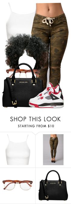 """""""Sans titre #356"""" by lesliekabengele ❤ liked on Polyvore featuring Topshop, Topman, MICHAEL Michael Kors and NIKE"""