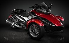 I want one so bad! These are gorgeous! Can-Am Spyder Roadster. *drools*... with my cousin so we can take over the roads!