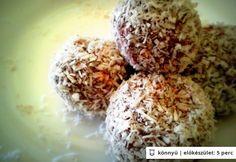 Túrós-banános kókuszgolyó Top 15, Thing 1, Energy Bars, Healthy Cookies, Muesli, Sweet Tooth, Deserts, Low Carb, Sweets