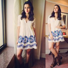 When you knew how good this dress would look on you. | 18 Outfits Alia Bhatt Wore In 2015 That You'll Want To Steal