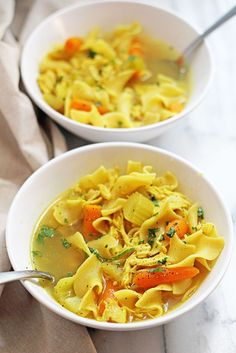 Slow Cooker Chicken Noodle Soup | Grandbaby Cakes