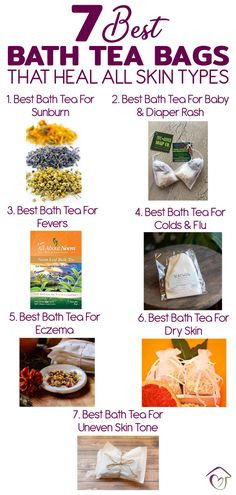 7 Best Bath Tea Bags That Heal All Skin Types These bath tea bags can be used while soaking in your bathtub to improve the condition of the skin and improv Cold Home Remedies, Herbal Remedies, Health Remedies, Natural Remedies, Spa Day At Home, Home Spa, Nails Polish, Bath Recipes, Homemade Beauty