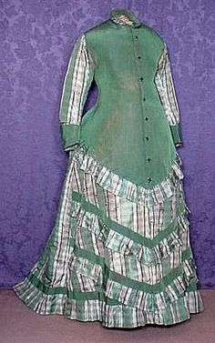"""An obviously pregnant woman circa When I discovered I was expecting the last time I was determined to have one """"nice"""" maternity outfit for reenactment. I decided upon the natural form period. Maternity Wear, Maternity Fashion, Maternity Dresses, Maternity Clothing, Maternity Photos, Edwardian Gowns, Victorian Gown, Victorian Costume, 1870s Fashion"""