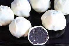 Oreo truffles Oreo Truffles, Christmas Inspiration, Deserts, Pudding, Tasty, Favorite Recipes, Sweets, Cookies, Advent