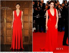 Kristen Stewart Dress V Neck Couture Cosmopolis Cannes Film Festival Premiere Celebrity Red Carpet