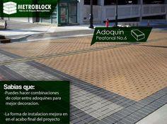 #adoquines #losetas de colores en cemento son perfecta para el diseño y un ambiente perfecto, un tips importante es la colocación del producto y base del adoquin.