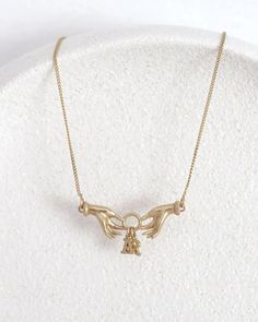 Initial Necklace/ 14k gold | yajewelry