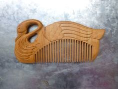 100 Pure Natural Wild RARE Cedar Wood Carving The GOOSE Care Comb | eBay