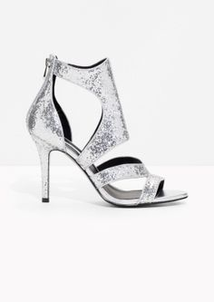 & Other Stories | Cut-Out Sequin Sandalette