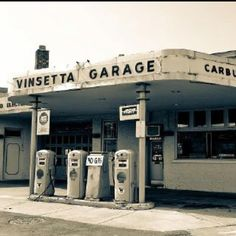 Vinsetta Garage (the real thing) located on the historic Woodward Ave.