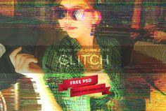 Глюк бесплатно на VHS фотошопе макет | PSDDude