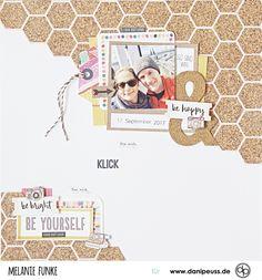 "Layout mit dem ""Januar Kit 2018"" | von Melanie Funke für www.danipeuss.de | #danipeuss #scrapbooking #scrapbookinglayout"