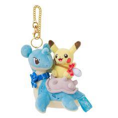 Pokemon Center Original Mascot Pikachu Laplace Lapras Key Chain Doll from Japan #PokemonCenter