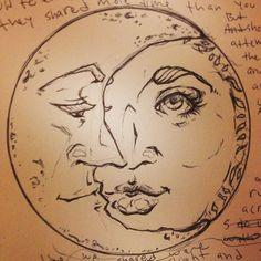Beautiful drawing of Sun & Moon