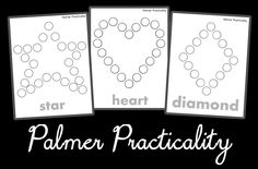 Palmer Practicality: Do a Dot Printables- More Shapes!