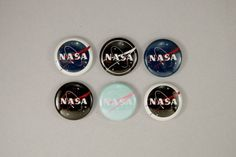 """professorcoolcollections: """"NASA Buttons by astropuke """""""