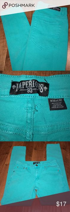 Imperious Teal Skinnies Imperious teal skinny jeans. Good used condition! Great for spring! imperious Jeans Skinny