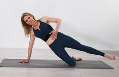 Diastasis Recti Core Exercises: Side Plank with Core Compressions