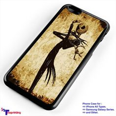 Jack Skellington Cool Style, Halloween Parody - Personalized iPhone 7 Case, iPhone 6/6S Plus, 5 5S SE, 7S Plus, Samsung Galaxy S5 S6 S7 S8 Case, and Other