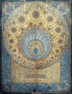 Mucha Sketch for the Ginzkey carpet. Art Nouveau | JV by Irmi Nordsonne
