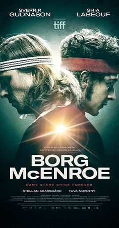 Borg McEnroe (2017) The true story of the rivalry between Bjorn Borg and John McEnroe in the early 1980s for the Wimbledon title is, aside from the legendary tennis history, a fascinating look at the psychology of the absolute and obsessive need to win. 3.3 stars