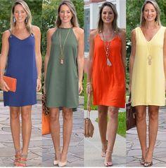 Effect of neckline. same dress cut, same length. Effect of neckline. same dress cut, same length Simple Dresses, Casual Dresses, Casual Outfits, Fashion Dresses, Summer Dresses, Comfy Dresses, Dresses Dresses, Fashion Clothes, Dress Cuts