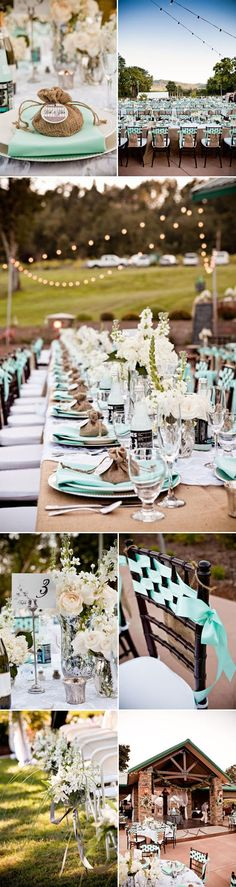 Aqua wedding... Wedding ideas for brides, grooms, parents & planners ... https://itunes.apple.com/us/app/the-gold-wedding-planner/id498112599?ls=1=8 … plus how to organise an entire wedding ♥ The Gold Wedding Planner iPhone App ♥ http://pinterest.com/groomsandbrides/boards/