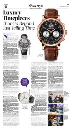 Luxury Timepieces That Go Beyond Just Telling Time|Epoch Times #Style #Watch #newspaper #editorialdesign