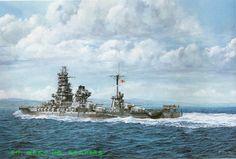 Acorazado Ise 1917, hundido en Kure, Japón 1945