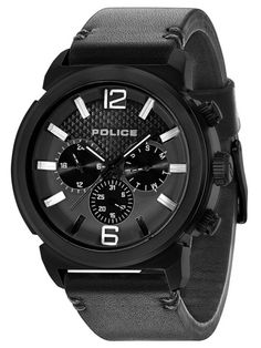 Brand: Police Authenticity: Genuine & Comes W/Original Tags EAN: 4895148656945 Gents Watches, Watches For Men, Police Watches, G Shock, Casio Watch, Chronograph, Black Leather, Stuff To Buy, Concept