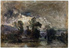 Landscape with a Stormy Sky; Paysage au ciel orageux | |France (painted)  Date: ca. 1842 (painted)  Artist/Maker: Rousseau, Pierre-Etienne-Théodore, born 1812 - died 1867