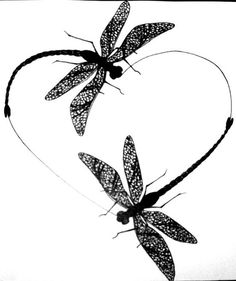 Image result for dragonfly n heart silhouette