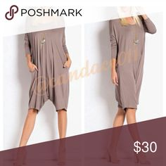 Jumpsuit with pockets (Taupe) Cute jumpsuit , super comfy brand new, never worn. Dresses Midi
