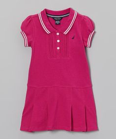 Little mermaids will be swimming with glee when wearing this snazzy number that combines the classic appeal of a polo with the sweet stylings of a dress. Size note: Only infant sizes include diaper cover.