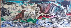 Sun Xun, 'Palimpsestes I', 2014, ink and colour on paper, 149 x 361 x 4 cm. Image courtesy ShanghART and the artist.
