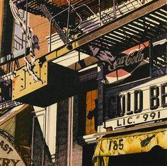 Cold Beer by Robert Cottingham / American Art Piet Mondrian, Edward Hopper, Urban Landscape, Landscape Art, Pop Art, Art And Craft Design, Famous Art, Art For Art Sake, Painting Edges