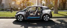 The all-electric BMW i3's body-in-white is made of carbon fiber composites -- a first in automotive mass production, BASF said. Plastics and composites from BASF play a role in several parts of the car.(Source: BMW)