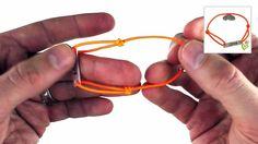 Bastelanleitung für ein Schiebeknoten Love-Armband