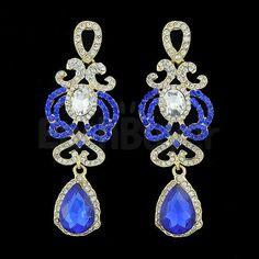 Fashion Women's Alloy Blue Casual Stud Earrings 2 Pieces