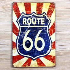 NEW 2015 about  route 66  metal Tin signs metal painting  wall sticker home decor bar Vintage plate  wall 20X30 CM UA-0024