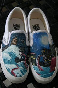 Painted Vans by Tozi.deviantart.com on @deviantART