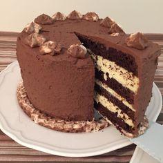 olles *Himmelsglitzerdings*: Schokotörtchen mit Cheesecake Füllung