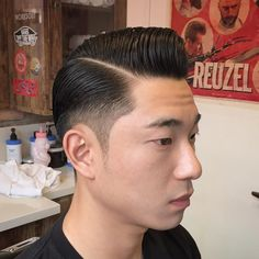 Classic Haircuts For Men : All About Pompadour Classic Haircut, Classic Hairstyles, Straight Hairstyles, Braided Hairstyles, Men's Hairstyles, Formal Hairstyles, Wedding Hairstyles, Barber Haircuts, Cool Haircuts