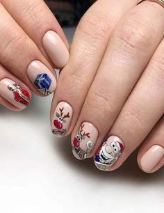 Beige manicure with funny drawings nails designer,best 2019 women party events nails designs idea in 2019 Latest Nail Designs, Latest Nail Art, Nail Art Designs, Nails Design, Nail Polish Colors, Gel Polish, Bridal Nail Art, Minimalist Pattern, Nail Art Images