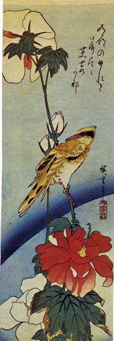 Hiroshige bird and flowers