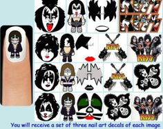 Kiss Group, Band Nails, Peter Criss, Kiss Nails, Paul Stanley, Kiss Band, Ace Frehley, Hot Band, Gene Simmons
