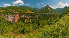 Tara River Bridge by loriath. Zabljak, Montenegro Second deepest canyon in the world!