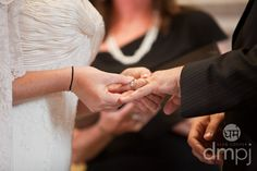 Julia & Scott: Mini wedding celebration -- Rings